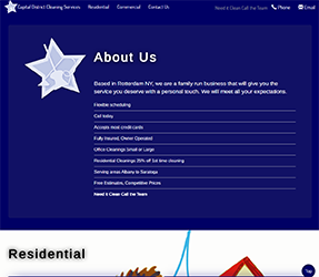 Capital District Cleaning Services Site